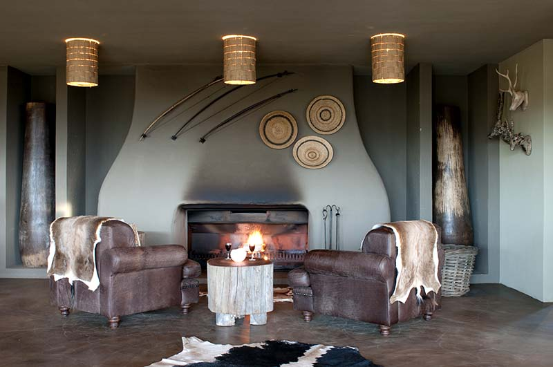 Kwena Lodge Bar Fire Place